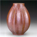 """Ribbed"" Copper Vase"