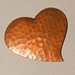 Hammered Copper Heart