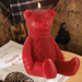 Red Teddy Bear Candle